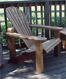 Click for larger photos. High end adirondack chair.